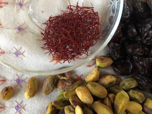 saffron, pistachios, dried cherries